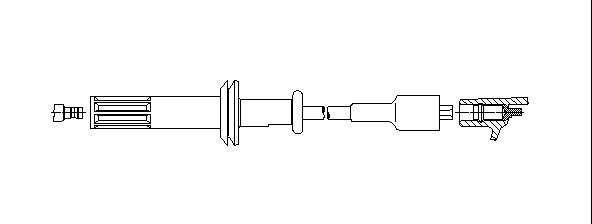 Zapaľovací kábel BREMI Fahrzeug-Elektrik GmbH + Co. KG