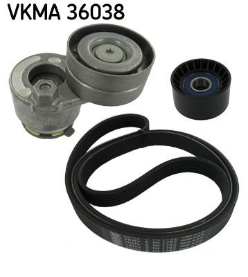 Ozubený klinový remeň - Sada SKF VKMA 36038