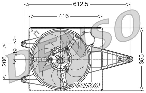 Ventilátor chladenia motora DENSO Europe B.V.