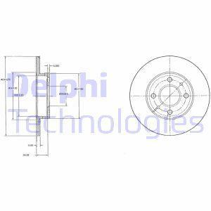 Brzdový kotúč Delphi Deutschland GmbH