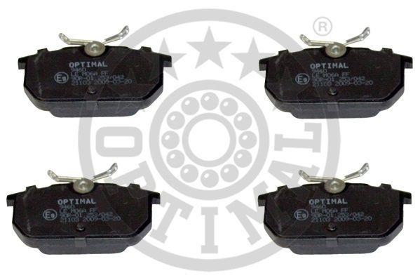 Sada brzdových platničiek kotúčovej brzdy OPTIMAL GERMANY AG & Co. KG