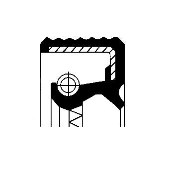 Tesniaci krúżok kľukového hriadeľa CORTECO