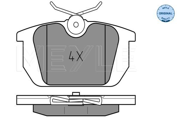 Sada brzdových platničiek kotúčovej brzdy MEYLE GERMANY Autoparts AG