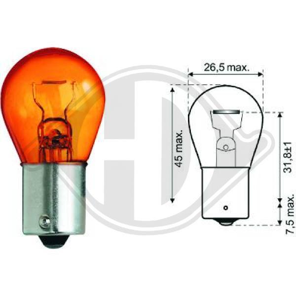 żiarovka pre smerové/koncové svetlo DIEDERICHS