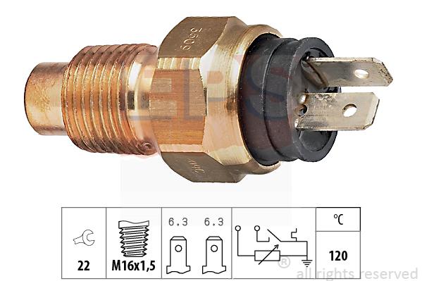 Snímač teploty chladiacej kvapaliny EPS AUTOMOTIVE