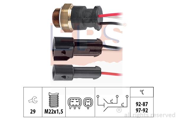 Teplotný spínač ventilátora chladenia EPS AUTOMOTIVE