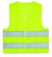 Reflexná a výstražná vesta - žltá