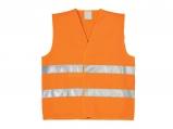 Reflexná a výstražná vesta - oranžová