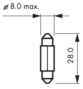 Žiarovka 12V 3W SV7 HELLA