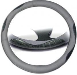 Poťah volantu kožený šedo-modrý
