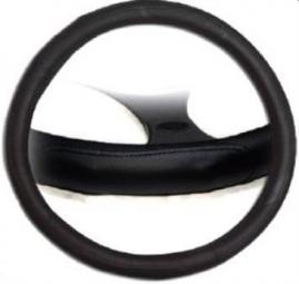 Poťah volantu kožený čierny