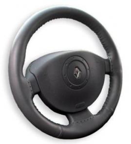 Poťah volantu kožený - čierny A /36-39cm/ osobné