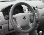 Poťah volantu kožený - šedý A