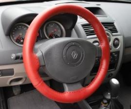 Poťah volantu kožený - červený A