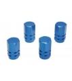 Čiapočky ventilov ozdobné modré hranaté (sada ...