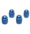 Čiapočky ventilov ozdobné modré okrúhle (sada ...