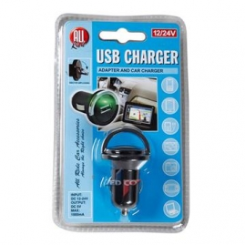 Nabíjačka USB 12/24V,1000mA AR