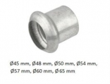 PROAUTO Koncovka trubky výfuku 40x71mm /samec/