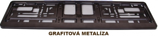 Podložka pod ŠPZ Grafitová metalíza