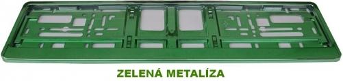 Podložka pod ŠPZ Zelená metalíza