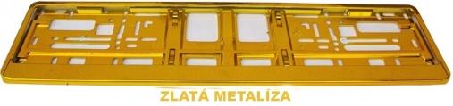 Podložka pod ŠPZ Zlatá metalíza