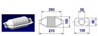 NOVAK Katalyzátor UNI 50x270mm oválny (diesel/TDI/CDI ...