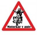 Nálepka motorkár v aute (1ks)