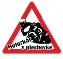 Nálepka motorkár v plechovke (1ks)