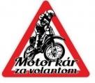Nálepka motorkár za volantom (1ks)