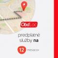 Predplatné služby OBD Loc IPM EU 12