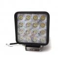 LED pracovné svetlo hranaté, 12V/48W, 16LED, ...