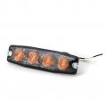 Pozičné výstražné svetlo, 4LED, 12-24V, oranžové