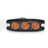 Pozičné výstražné svetlo, 3LED,12-24V, oranžové LP3-A