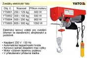 Elektrický naviják 500W 125/250Kg YATO YT-5901