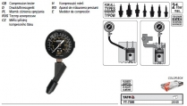 Merací prístroj kompresného tlaku (plast) YATO ...