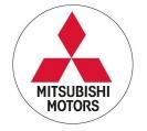 Nálepka na puklicu MITSUBISHI biele s červeným ...