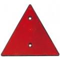 Odrazka trojuholníková s otvormi - červená