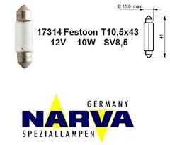 Žiarovka 12V 10W /43MM NARVA