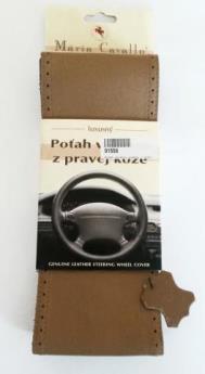 Poťah volantu kožený - svetlohnedý (béžový) A