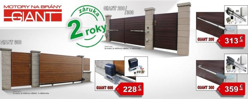 Pohony garazovych bran PEMAT GIANT
